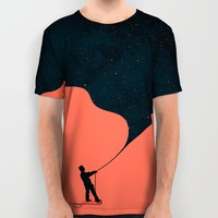 Night fills up the sky All Over Print Shirt by Budi Kwan