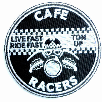 Cafe Racer Ton Up Rockers Iron Sew On Embroidered Patch