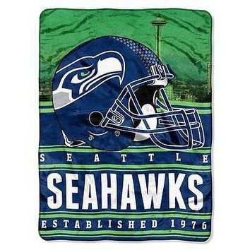 Seattle Seahawks NFL 60x80 Stacked Series Oversized Silk Touch Throw