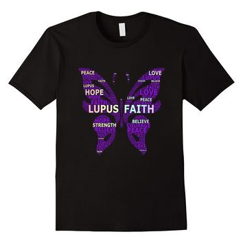 Lupus Awareness T-shirt Word Art Cloud Lupus Support Tee Mens 100% Cotton Short Sleeve Print Cool Funny T Shirt Men High Quality