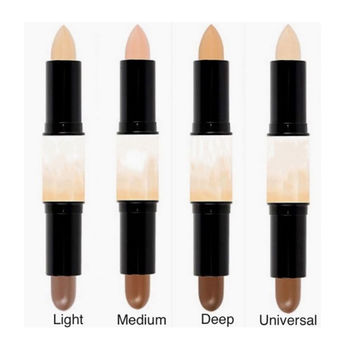 Double-ended 2 in1 Contour Stick Contouring Highlighter Bronzer Create dimensional Face Makeup Concealer Full Cover Blemish