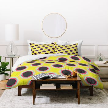 Allyson Johnson Neon Pattern Duvet Cover