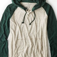 AEO Men's Colorblocked Hoodie T-shirt (Hazelnut Marl)
