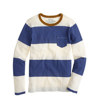 crewcuts Boys Ringer Pocket Tee In Rugby Stripe