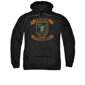 Tropic Thunder Movie Patch Licensed Adult Pullover Hoodie