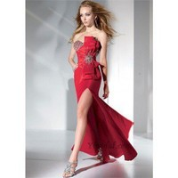 Sheath Strapless Floor-Length Taffeta Prom Dress SSC0332