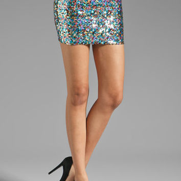 DRESS THE POPULATION Alice Skirt in Multi Sequin from REVOLVEclothing.com
