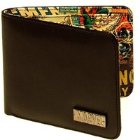 Marvel Retro Interior Print Men's Wallet Vintage Multi One Size