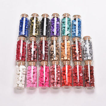 20 Colors Bottled Sealing Wax Bead Granule Letter Wedding Invitation Gift HUUS