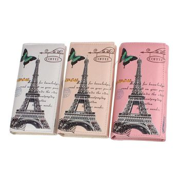 Whimsical Wallet with the Eiffel Tower or Great Britain handbags small Clutch  card holder Long Purse