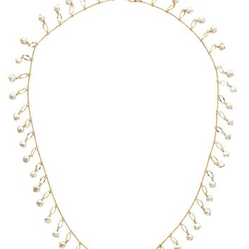 Sorrelli Milana Long Strand Necklace Polished Pearl