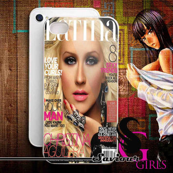 Christina Aguilera for iPhone 4/4S, 5/5S, 5C and Samsung Galaxy S3, S4 - Rubber and Plastic Case