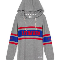 University of Kansas Varsity Pullover Hoodie - PINK - Victoria's Secret