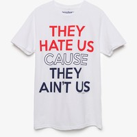 Pacsun They Hate Us T-Shirt - Mens Tee - White