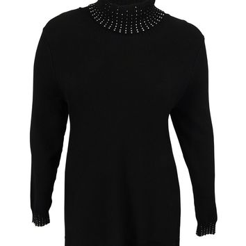 Alfani Women's Embellished Turtleneck Sweater
