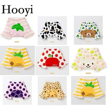 Hooyi Fruit Print Baby Summer Short Pants Animal Newborn PP Pant Diaper Cover Nappy Baby Clothes Cotton Underpant Hot Shorts