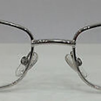 NEW AUTHENTIC GIORGIO ARMANI GA 391 COL HRJ SILVER METAL EYEGLASSES 53MM