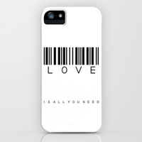 LOVE is all you need iPhone & iPod Case by findsFUNDSTUECKE