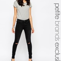New Look Petite | New Look Petite Skinny Jean With Ripped Knee at ASOS
