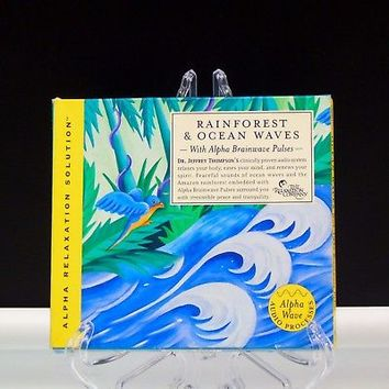 Rainforest and Ocean Waves Alpha Relaxation Solution 2 CD Jeffrey Thompson 2007