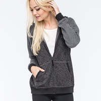 Hurley Olympia Womens Zip Hoodie Black/Grey  In Sizes