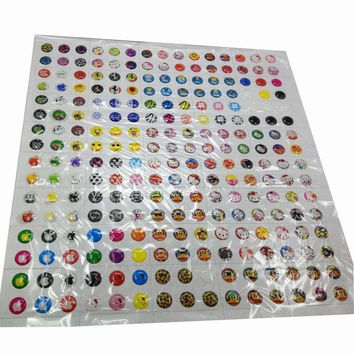 330pcs Love Cute Cartoon Rubber Home Button Sticker for iPhone 4 4s 5G ipad 2 3 INY66
