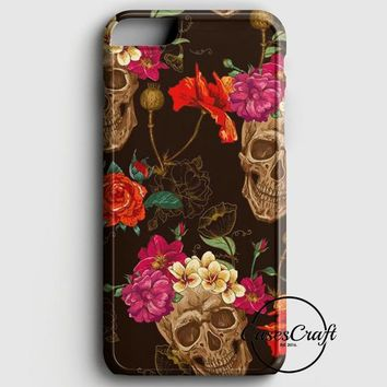 Roses Skull Pattern iPhone 8 Plus Case | casescraft