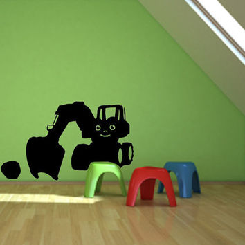 Children Room Kids Tractor Vinyl Design, Asian Art -Vinyl Decal - Wall Art