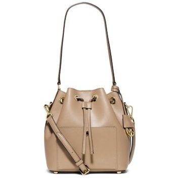 Greenwich Medium Saffiano Leather Bucket Bag | Michael Kors