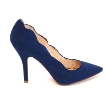 ESBONIG Chinese Laundry Savvy - Blue Scallop Edge High-Heel Pump