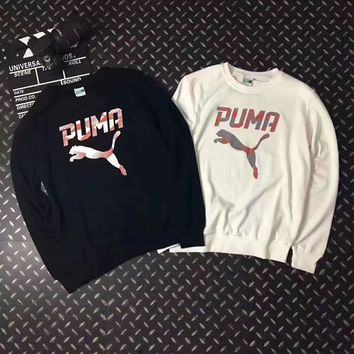 Day-First™ PUMA Couples round collar fleece sweater H-A-GHSY-1