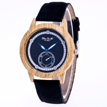 Black Strap Wrist Watch