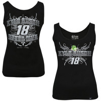 Chase Authentics Kyle Busch Ladies Speed Diva Tank Top - Black