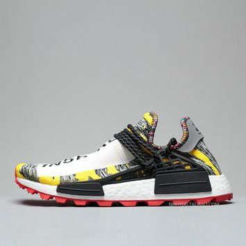 Seces sports Pharrell x adidas NMD Hu Philippine wild African joint name Black a