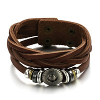 Genuine Cow Leather Adjustable Bracelet