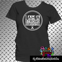 I am a Strong Survivor Shirts (Lung Cancer, SCID (Severe combined immunodeficiency) and Scoliosis
