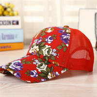Red Floral Cap Hat Summer Gift 22
