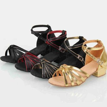 In stock lots of style Children latin/modern/practice dance shoes, Girls Shoes, Kid Ballroom Salsa Shoes XC-5121
