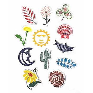 Nature Stickers w/ Vinyl Pouch (Set of 12)
