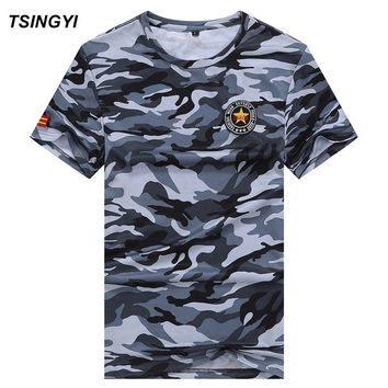 Big & Tall Camouflage Breathe Quickly Dry Men T shirt O-Neck Short Sleeve Size 8XL ,7XL