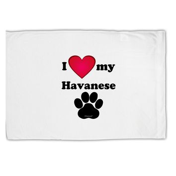 I Heart My Havanese Standard Size Polyester Pillow Case by TooLoud