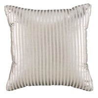 Metallic Pinstripe Throw Pillow (Silver) in Throw Pillows | The Land of Nod