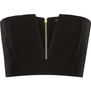 Cutout crepe bandeau top | BALMAIN | Sale up to 70% off | THE OUTNET