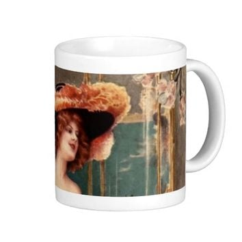 Victorian Pin Up Girl Dress Fashion Costume Paris Coffee Mug