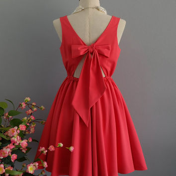 A Party V - Lolita Dress Sweet Lolita Backless Dress Coral Dress Coral Bridesmaid Dress Coral Party Dress Coral Summer Dress XS-XL