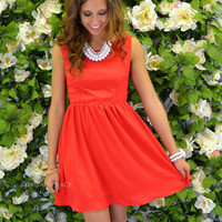 Sweet Serendipity Red Sleeveless Dress