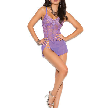 Marcy Lace & Mesh Babydoll