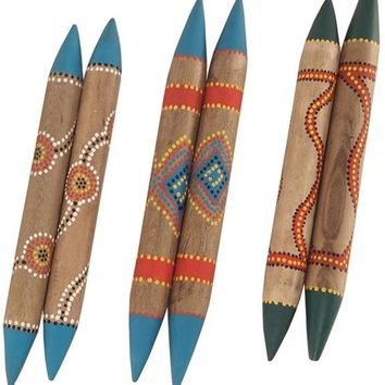 Rhythm Clapstick Claves - Painted