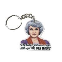 Golden Girls - Dorothy Zbornak keychain