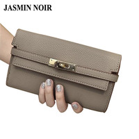 2016 summer new brand deisgner women lock wallet female leather envelope day clutch bag ladies hand bags purse for ladies